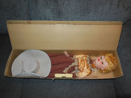 Gail of the Golden West Doll Hat + Box 1958 Cowgirl Doll De Luxe Premium Corp.