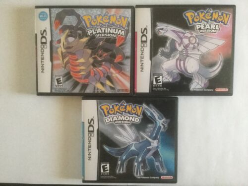 Pokemon Diamond, Pearl, Platinum Game Cases - Nintendo DS- *NO GAME*