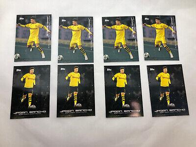 2020 Topps BVB JADON SANCHO Soccer Cards Borussia Dortmund 8 Card Lot #22 #35