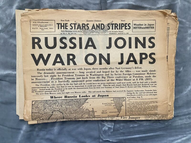 The Stars and Stripes Lot, 10 Issues, London Edition, August 1945