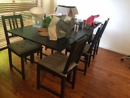 Dining table and 4 chairs Dining Tables Gumtree Australia