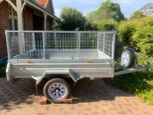 8 x 6 Single axle tilt trailer with 12 month licence