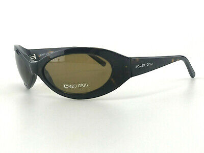 Romeo Gigli Sunglasses mod RG 57501 Brown Tortoise Oval Shades NOS Vintage Italy