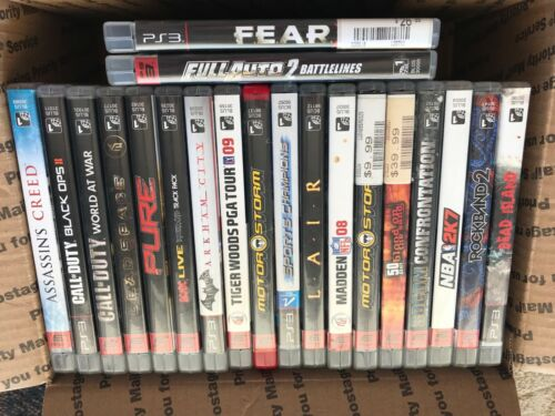LOT OF 20 ASSORTED PS3 GAMES - ALL COMPLETE - FREE SHIPPING