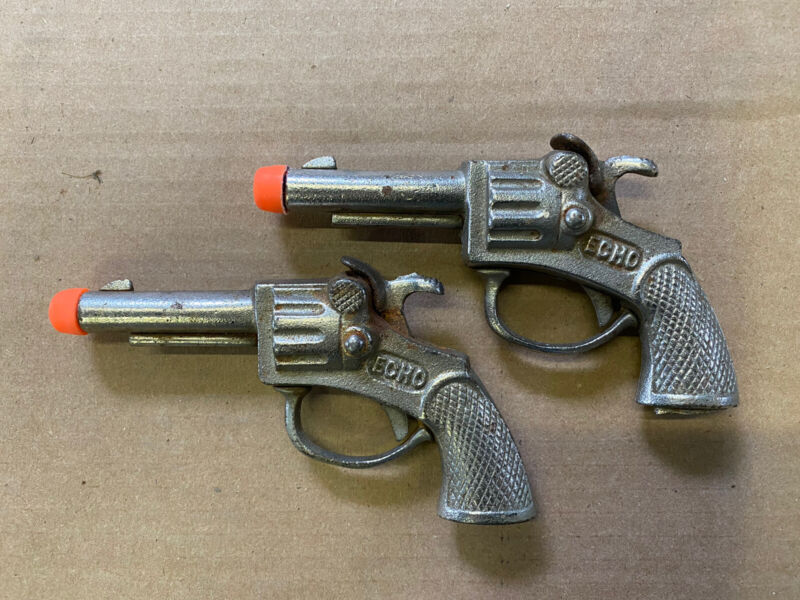 Antique Cast Iron Toy Cap Guns Echo Single Shot Made in America