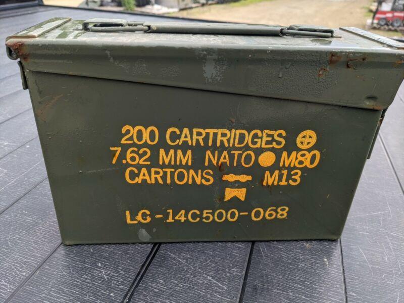 30 Cal Ammo Can Army Military M19A1 Metal Storage Box 7.62 MM USGI