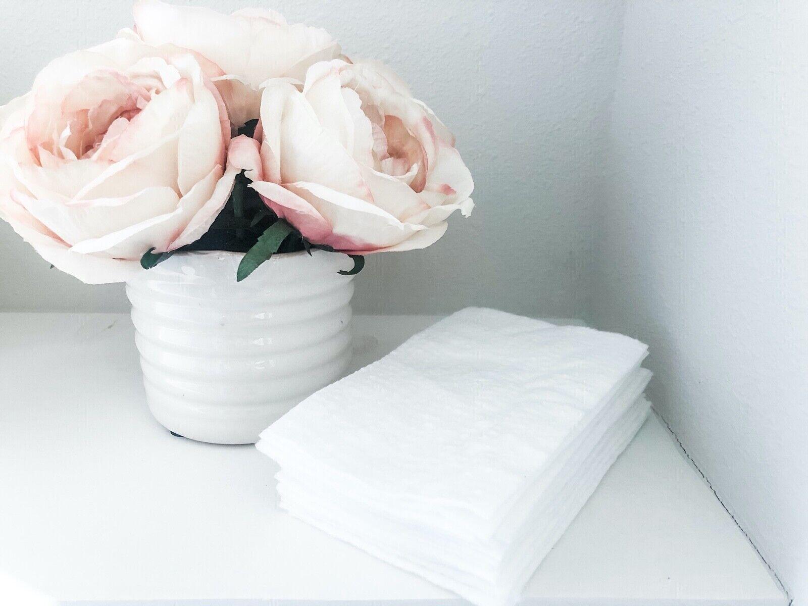 Reusable Washable Toilet Paper 16 Sheets - Zero Waste, Eco F