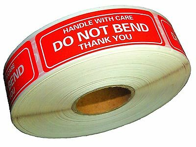 Do Not Bend Stickers Handle With Care Thank You 1 X 3 Sticker Premium Quality