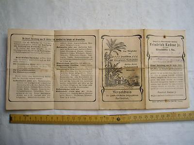 Kaiserl. Verordnung , Verkehr mit Arzneimitteln , Glashütte 1901