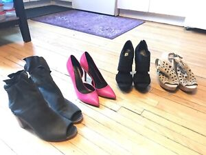 4 Pairs of NEW & Near New Women's Size 10 Shoes