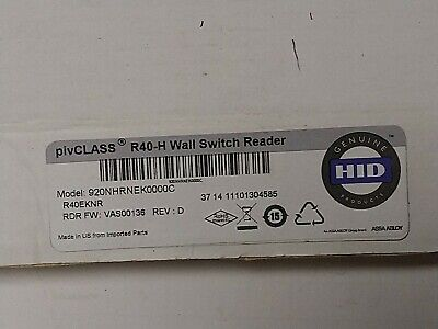 Hid Pivclass R40-h Card Reader New In The Box