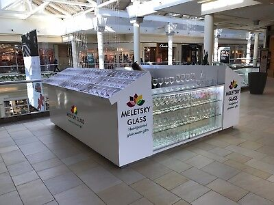 Mall Retail Kiosk - Glassware Luxury Look. 10x10. Professionally Built