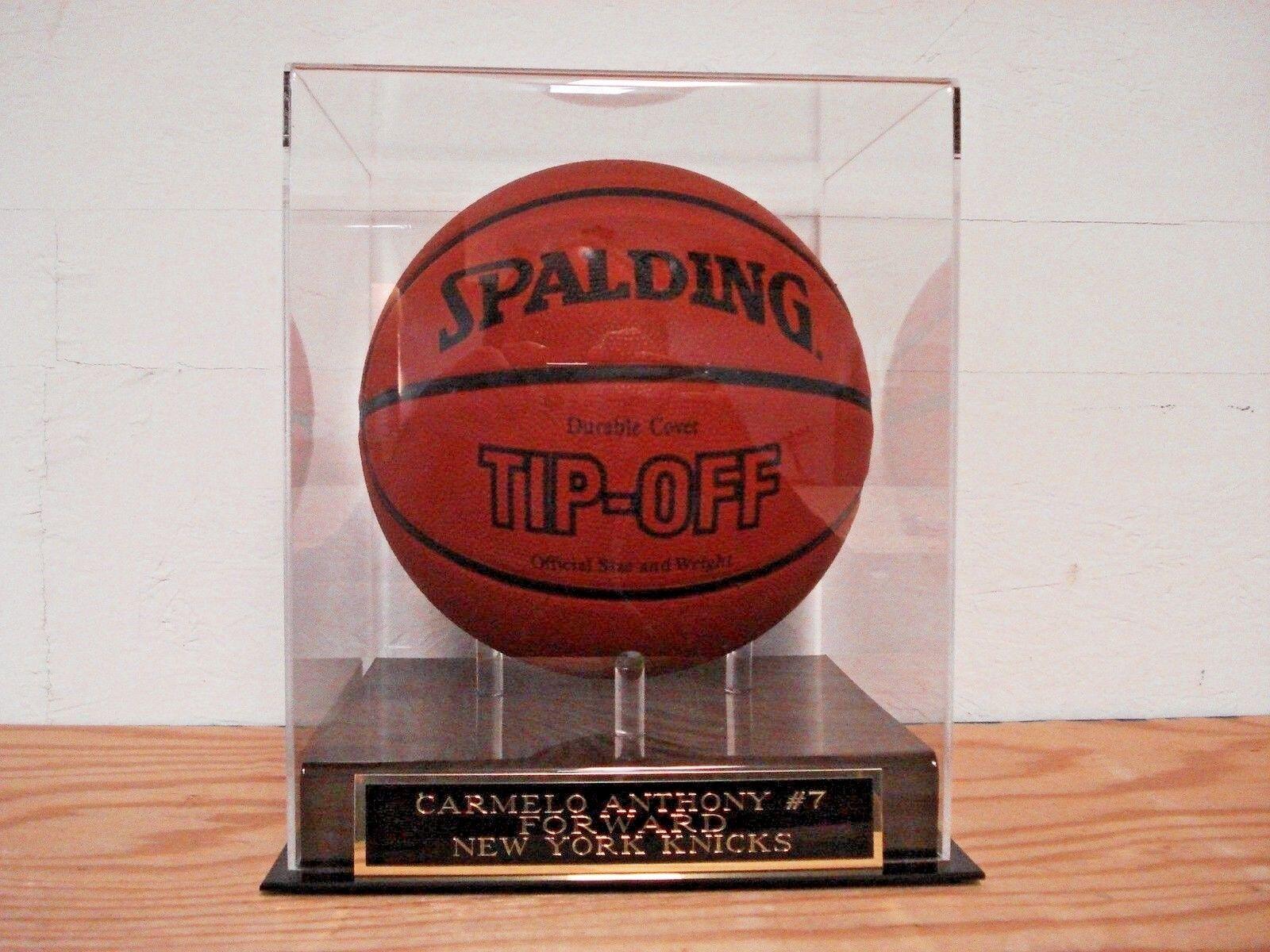Carmelo Anthony Basketball Display Case W/ A New York Knicks