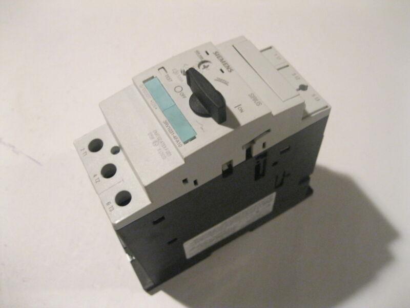 SIEMENS 3RV1031- 4FA10 MOTOR STARTER PROTECTOR CIRCUIT BREAKER 40 AMPS MAX.