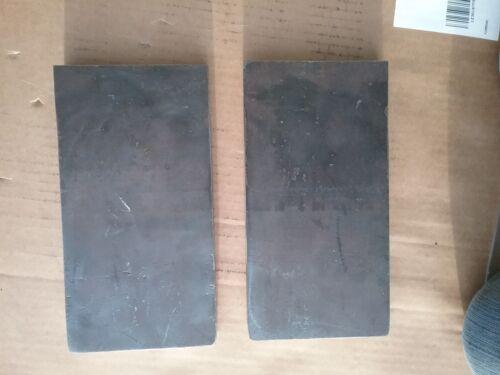 "20 Ton Hydraulic Shop Press Plates 3/4"" X 4"" X 8 1/2""+- Steel, Clean Edges"