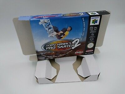 Tony Hawk's Pro Skater 2 - box reproduction with insert - N64 - PAL or NTSC. HQ!