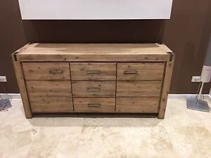 Rustic draws and doors buffet table Sans Souci Rockdale Area Preview