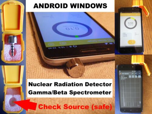 Nuclear Radiation Detector Counter Gamma Beta Spectrometer for ANDROID / Windows