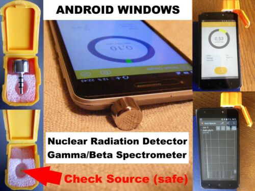 Nuclear Radiation Detector Counter Gamma Beta Spectrometer for ANDROID