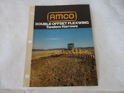 Amco Double Offset Flexwing Tandem Harrows Brochure