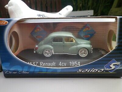 SOLIDO FRANCE 1/43 RENAULT 4 CV 1954 ref 4537 COMME NEUF EN BOITE