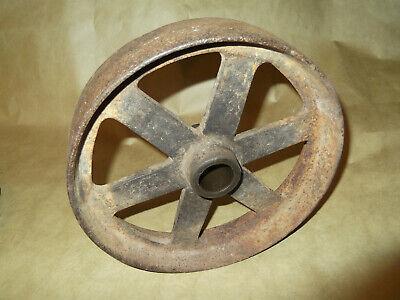 Hercules Hit Miss Engine Flat Spoke Cast Iron Cart Wheel