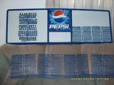 Lk New Huge 6ft Pepsi-cola Menu Board Sign W7 Letter Number Sets