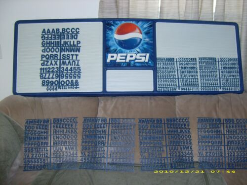 L@@K New! Huge 6ft Pepsi-Cola Menu Board Sign w/7 letter & number sets!