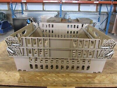 5set Stackable Plastic Storage Bins Totes Crates Baskets With Handles New