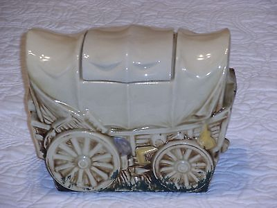 Vintage McCoy Covered Wagon Cookie Jar 1960's