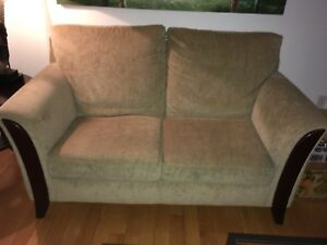 Love seat with matching ottoman