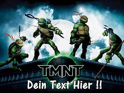 Teenage Mutant Ninja Turtles-spiel (Eßbar Tortenaufleger Teenage Mutant Ninja Turtles Spiel NEU Dekoration mit Text)
