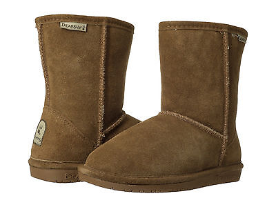 Kids Bearpaw Emma Short 608Y Suede Hickory 100% Authentic Brand New