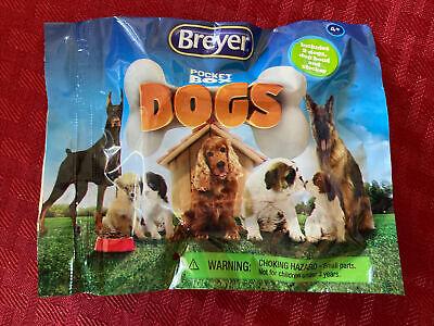 BREYER Pocket Box DOGS NEW Unopened Blind SURPRISE Bag 2 Dogs Bowl Sticker