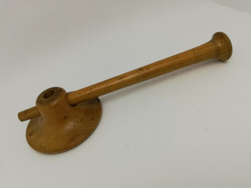 Antique Medical Tool Wood Stethoscope Auditory Tube