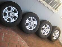 """TOYOTA LANDCRUISER 100 SERIES ALLOY WHEELS/TYRES 17"""" SET OF 4 Liverpool Liverpool Area Preview"""