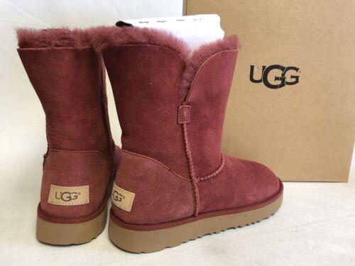 UGG Australia CLASSIC Cuff SHORT SHEEPSKIN BOOTS sizes 1016418 Red Clay Women's