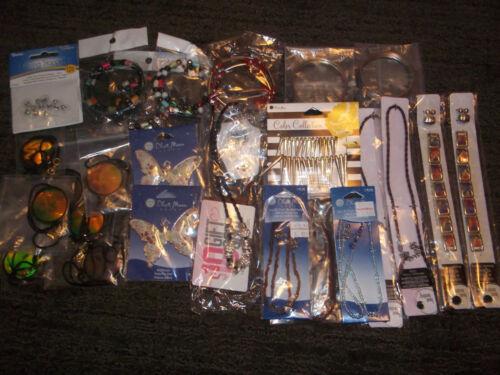 Large lot of JEWELRY Supplies Cord PENDANTS Bracelets Memorywire Box #2