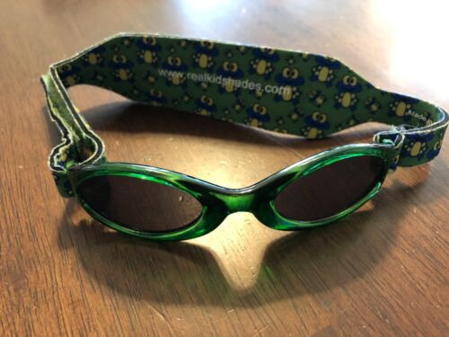 Real Kids Shades Sunglasses for Babies, Toddlers, Kids Frogs Adjustable Band