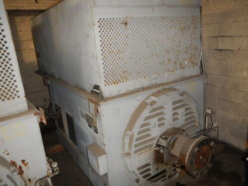 3000 HP General Electric AC Motor, 1800 RPM, Fr. 8511S, TEFCSB, 4000 V, EOK