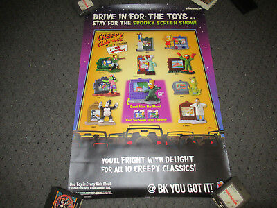 VINTAGE LARGE BURGER KING THE SIMPSONS HALLOWEEN KIDS MEAL TOY POSTER FAST - Halloween Kids Posters