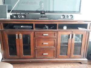 Solid Mahogany Entertainement  Console TV Stand