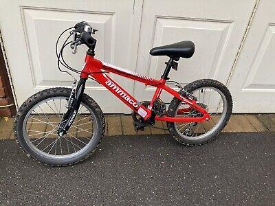 Kids Unisex Red Ammaco Python 18 Inch bike