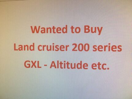 Landcruiser 200 series Wanted Morley Bayswater Area Preview