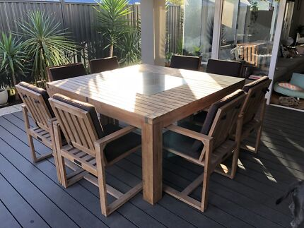 Outdoor chair and side table | Other Furniture | Gumtree Australia ...