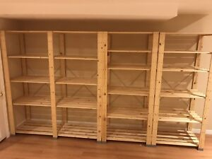 Ikea Hejne wood shelf system- like new!