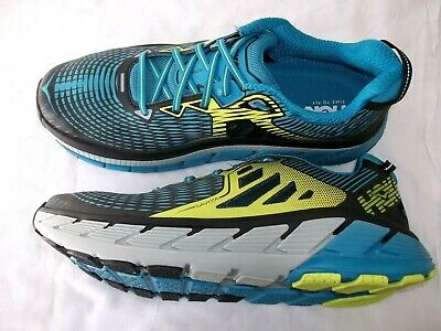 MENS HOKA ONE ONE 'GAVIOTA' BLUE RUNNING TRAINERS SIZE 8 UK EXCELLENT CONDITION
