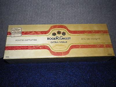 ROGER & GALLET Seife 3 x 90g EXTRA_VIEILLE  Rarität Vintage mit Schutzfolie