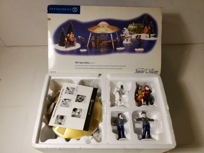 Dept. 56 2001 Space Oddity Snow Village Set of 11 New in Box!