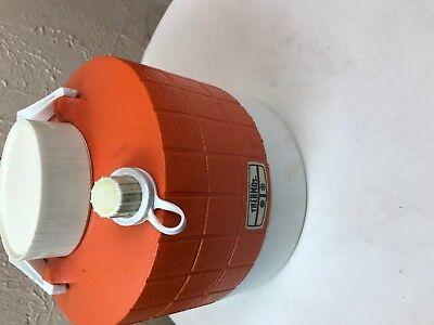 "THERMOS Vintage 1970's 1 Gallon Camping Picnic Water Jug Plastic ""Golden Orange"""